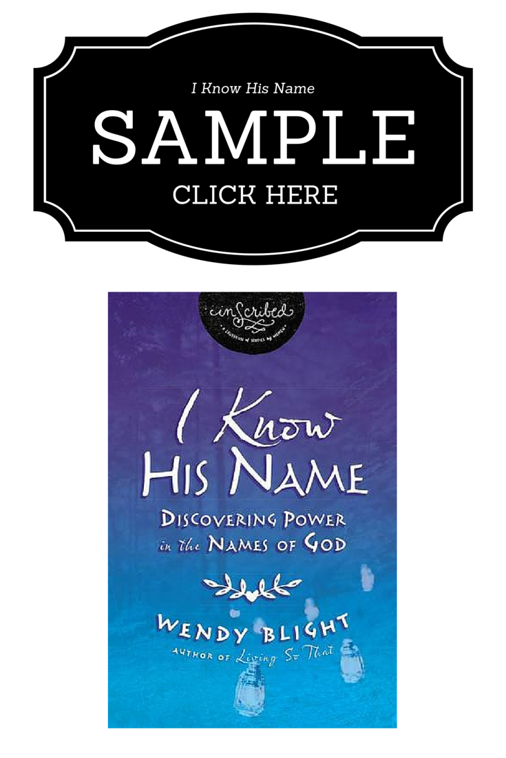 Sample Chapter: I Know His Name by Wendy Blight